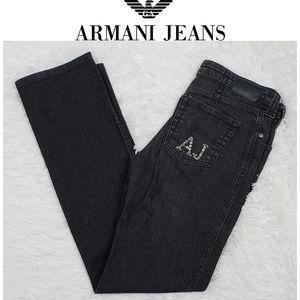 Armani Jeans ~ Black Bootcut Denim Jeans Size 29